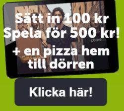 ComeOn bjuder på pizza